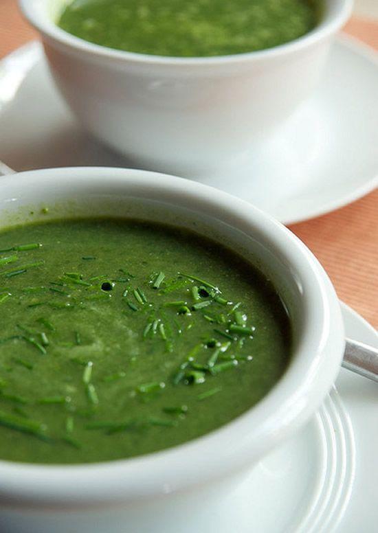 Sopa aveludada de espinafres