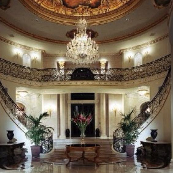 Foyer: Grand Staircases, Chandelier, Double Staircase, Dream House, Stairway Foyers, Double Stairway, Find Stairs, Design