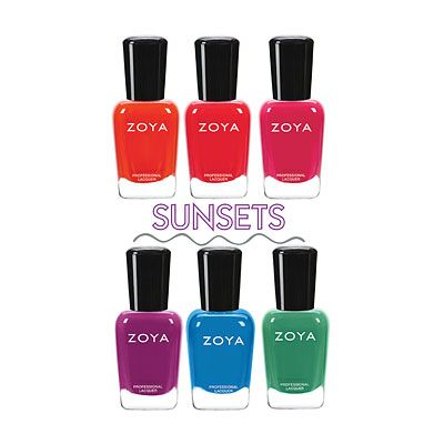 Zoya Sunsets collection Summer 2016