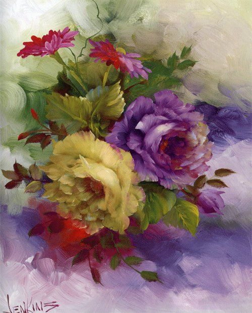 Beautiful roses by gary jenkins painting roses for Pretty flower paintings
