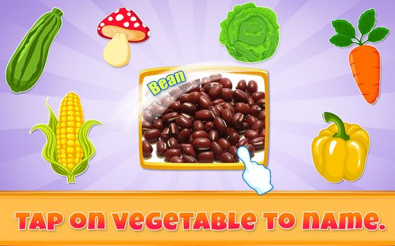 #KidsGames Do you know the names of all the #Vegetables? If no, tap on it & know vegetables #Names in fun way in this #Education #Game.