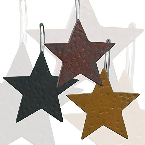 Park Designs Star Shower Curtain Hooks Set Of 12 Choice Of