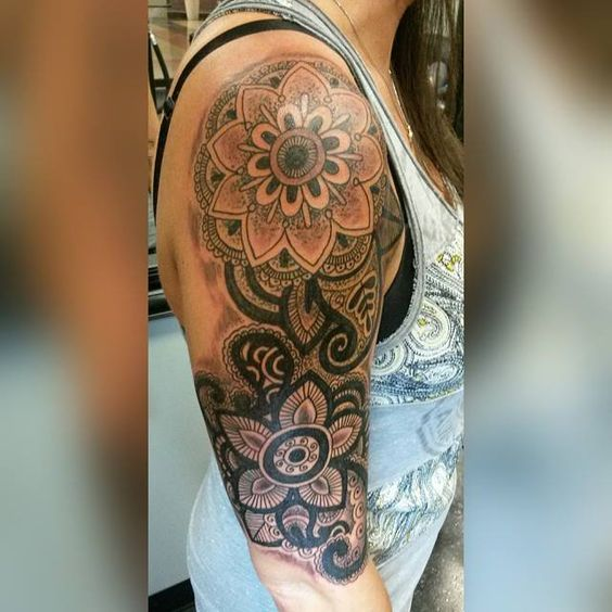 mandala tattoo half sleeve - Google Search