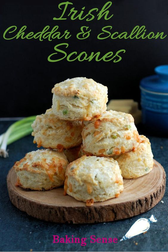 Irish Cheddar Cheese Scones with Scallions