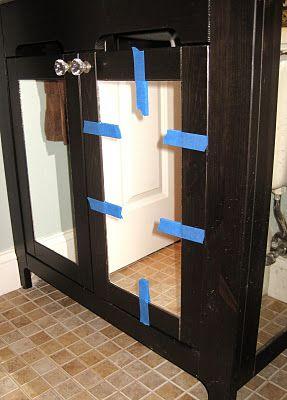 adding mirrors to bathroom vanity