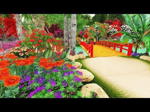 Beautiful Style Flower Garden Motion Video Free Download Beautiful Scenery Video Download Flowers Backgrou Flower Garden Flower Garden Pictures Garden Pictures Flower garden background images download