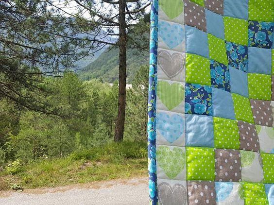 Bambini birichini ~ Trapunta patchwork per bambini baby quilt fatto a mano puro