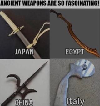 Ancient Weapons Are So Fascinating