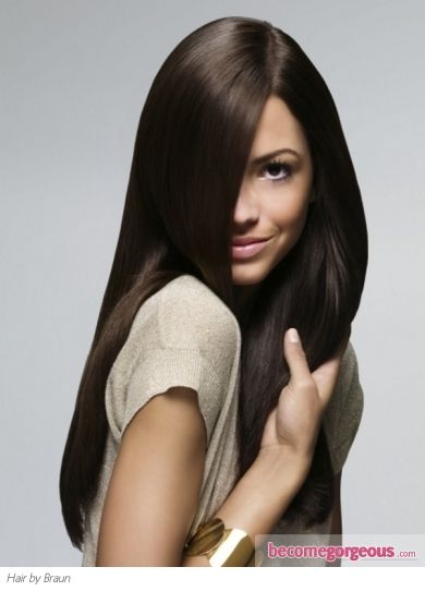This gorgeous sleek long hairstyle will flaunt the healthy condition of your cascading locks.