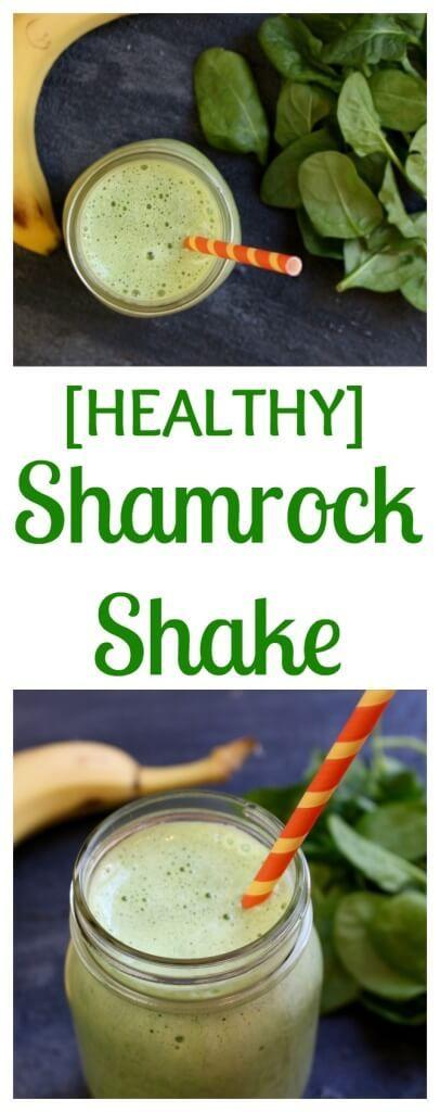 Healthy Shamrock Shake | Recipe | Shamrock Shake, Shake and Beverages