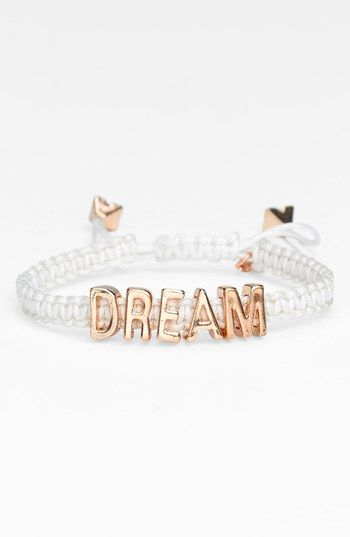 BCBGeneration 'Affirmation - Friendship' Macramé Bracelet available at #Nordstrom