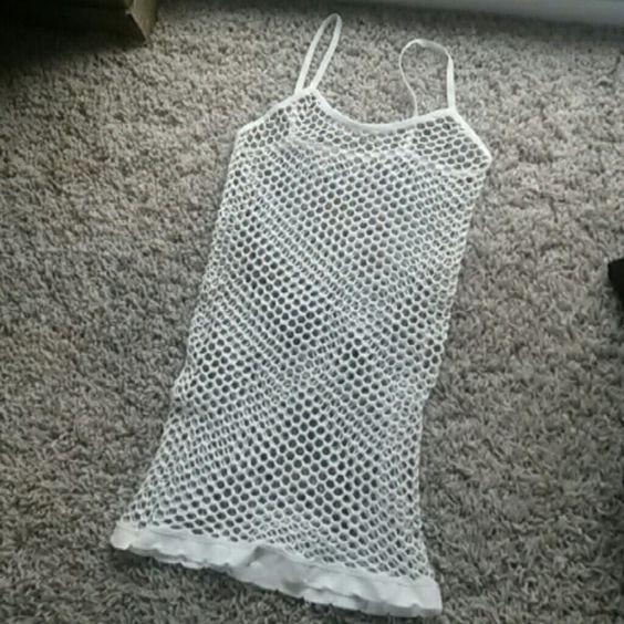 Rave white mesh tank xxs xs Fits best xxs 00  No flaws American Apparel Tops