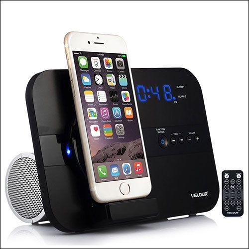 Velour Docking Station With Speaker For Iphone X And Iphone 8 8 Plus Iphone Dock Speaker Iphone Charger Dock Iphone Speaker