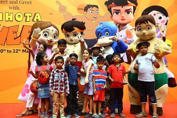 Chhota Bheem, Chutki, Jaggu and Kalia At Forum Vijaya Mall
