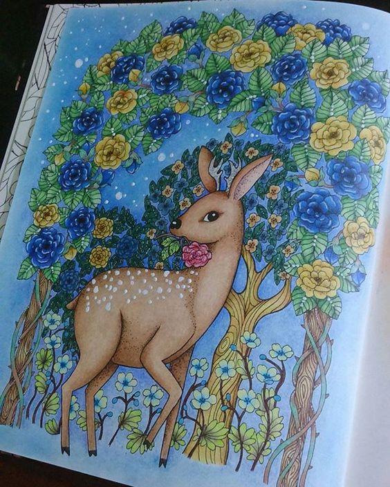 Bambi  #blomstermandala #mariatrolle #jardimsecreto #florestaencantada