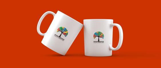 nature tree logo with mockup