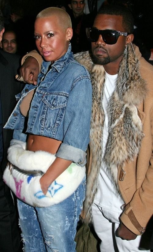 High Fashion Amber Rose And Kanye West 2010 Fashion Kanye And Amber Rose Street Style Bags