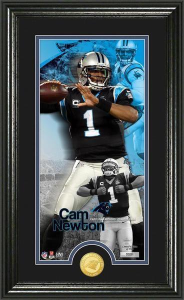 "Cam Newton """"Supreme"""" Bronze Coin Panoramic Photo Mint"