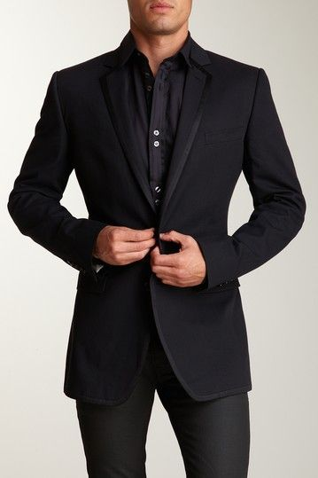 wear with everything: D & G Men Black Tuxedo Jacket blazer | Guy