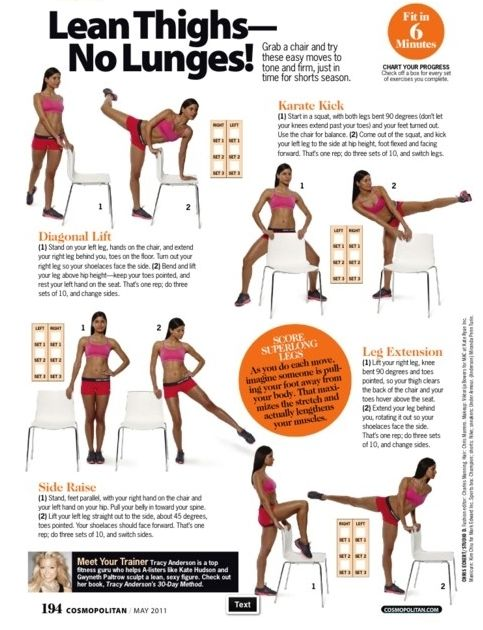 Lean Thighs- No Lunges!