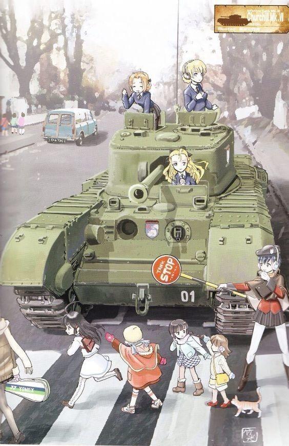 Girls Und Panzer Anime Art Girl Manga Girl Anime Tank