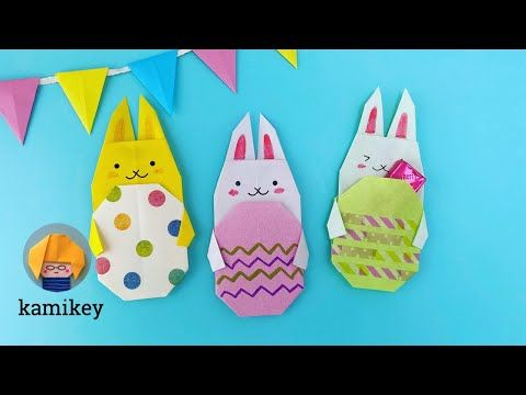 Origami Accordion Easter Eggs Tutorial - DIY - Paper Kawaii - YouTube | 360x480