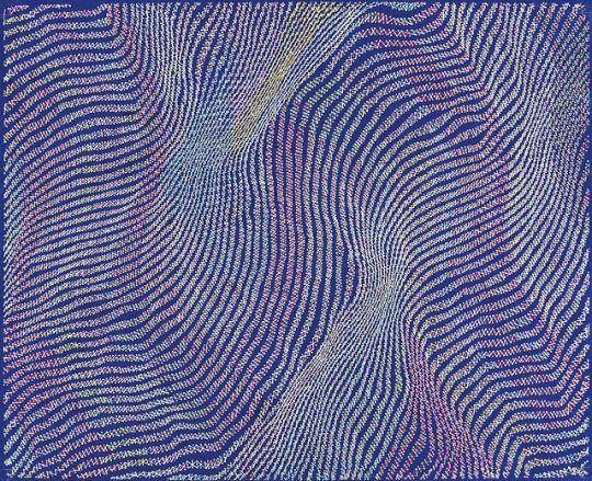 Yohei Yama Japanese B 1977 Cosmic Ray 12 2018 Acrylic On