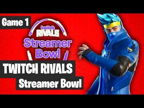 Live Fortnite Tournament Fortnite Twitch Rivals Streamer Bowl Draft Showdown Game 1 Highlights Game 1 Tournaments Twitch