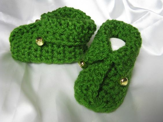 Free Crochet Pattern For Baby Elf Slippers : Elfin Elves Baby Booties Shoes Slippers Free crochet ...