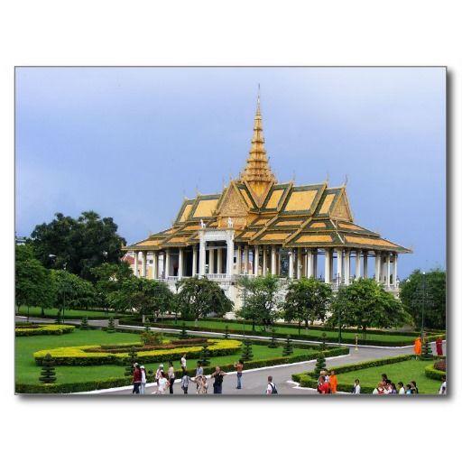 Postcard Royal Palace complex, Phnom Penh Cambodia Cartes Postales
