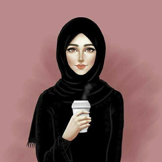 Pin By Kiana Alinoori On Hijab Art In 2020 Hijab Drawing Islamic Girl Hijab Cartoon