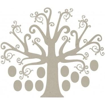 SCRAP HAPPY BRASIL - Chipboard Árvore Genealógica