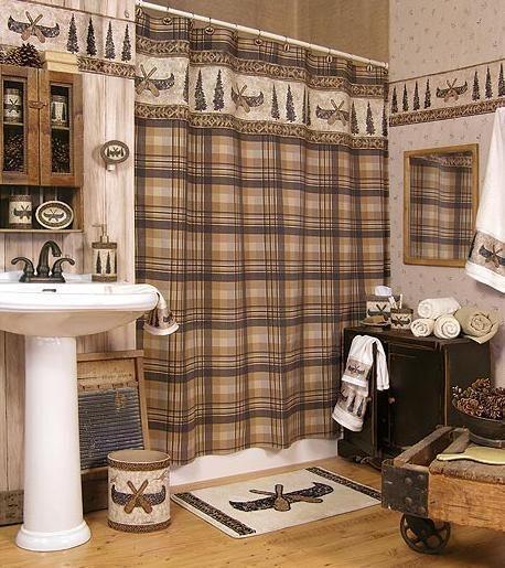 Cabin Decor Bathroom CAMPING CABIN LODGE DECOR BATHROOM