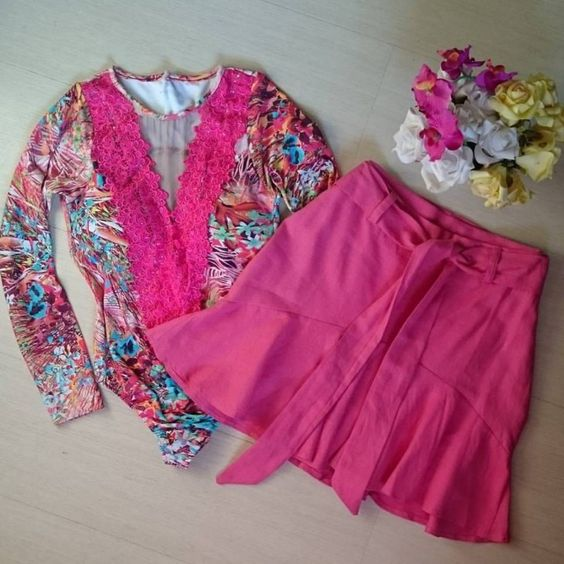 body-rosa-guipir-estampado-comprar-saia-rosa-laço