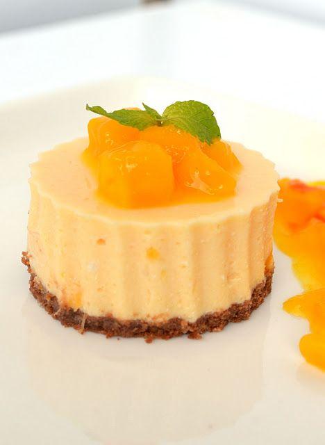No Bake Mango Cheesecake with Mango Sauce