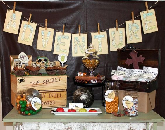 Cool indiana jones party party ideas pinterest crates banners and world traveler - Indiana jones party decorations ...
