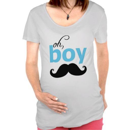 It's A Boy Mustache Baby Shower Maternity T Shirt