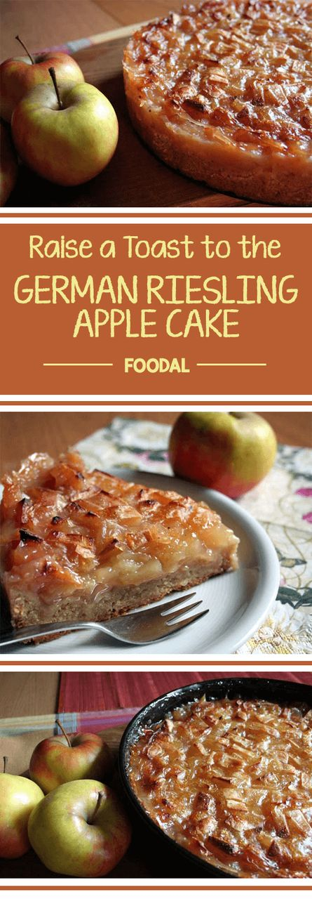A German specialty made with fresh apples and Riesling white wine, this cake is a tarty and sweet way to use that bumper crop of apples that you may harvest next fall. You won't go back to straight up apple pie after you sample this!  http://foodal.com/recipes/german-recipes/raise-a-toast-to-the-german-riesling-apple-cake/