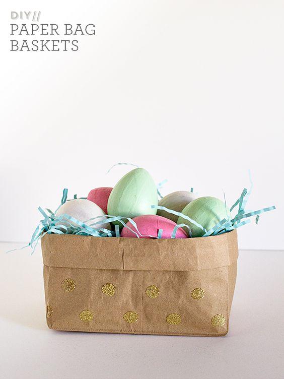 Basket Making Using Newspaper : Diy paper bag easter baskets