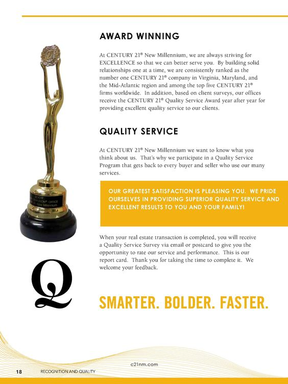 Listing Presentation Award Winning Quality Service. Page 18