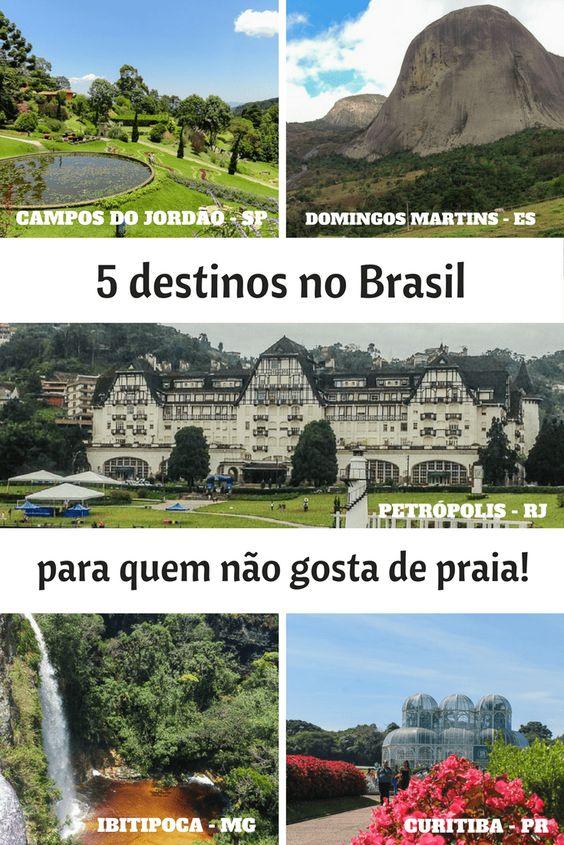 5 destinos brasileiros para fugir das praias no verão