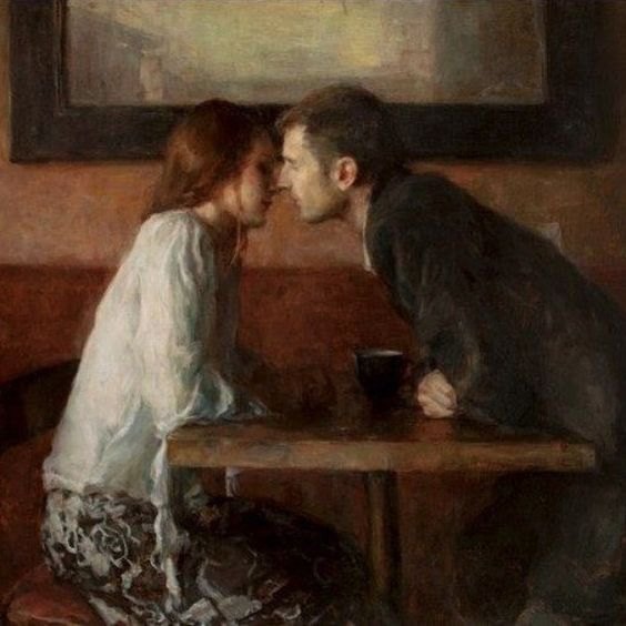 REGRAM @art_muse Ron Hicks - А Stolen Kiss #memories: