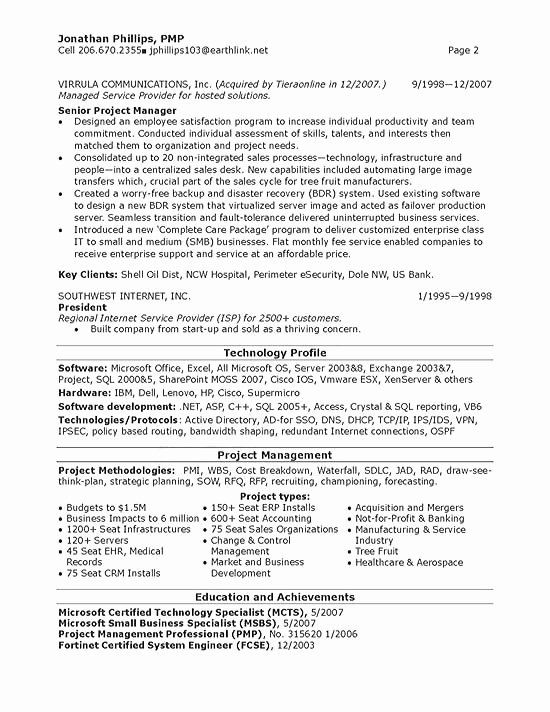 Information Technology Manager Resume Best Of Senior It Manager Resume Example In 2020 Project Manager Resume Manager Resume Business Analyst Resume