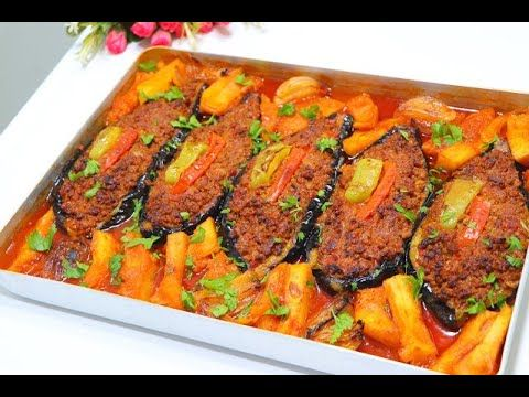 باذنجان محشي باللحم المفروم اكلة تركية مشهورة ب 3 وصفات أطيب وجبة غداء مطبق الباذنجان باللحم Youtube In 2021 Recipes Eggplant Recipes Food