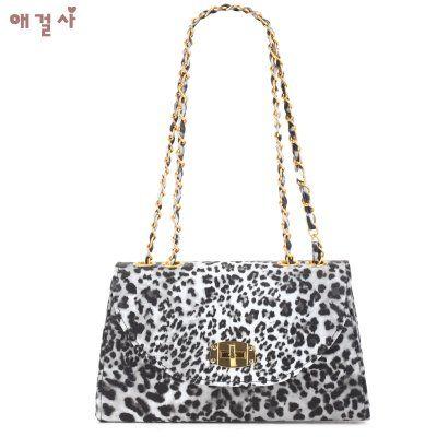 AGS Flap Over Leopard Chain Shoulder Bag [A017-2] - $26.00