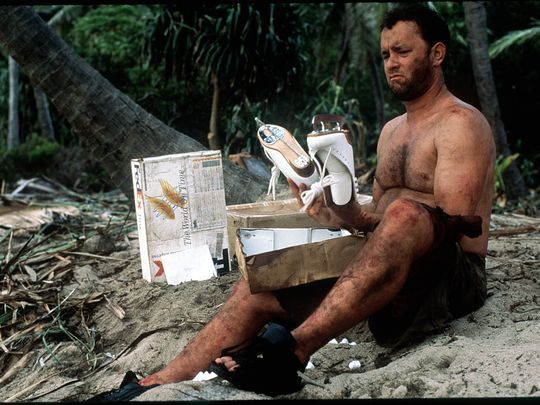 Tom Hanks Survives Four Years On An Isolated Island Survival Movie Cast Away Movie It Movie Cast