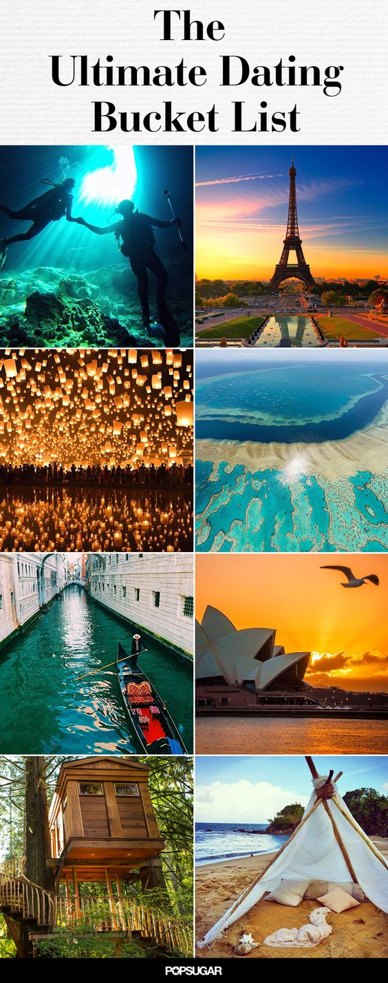 50+ Romantic Adventures That All Couples Should Have Before They Die... 2 down, a lot to go.