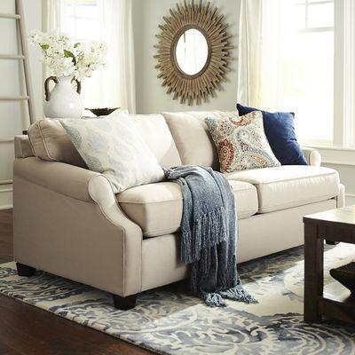 Alton Scoop Arm Sleeper Sofa Ecru Chic And Affordable
