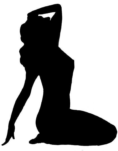 Woman Looking Up Silhouette