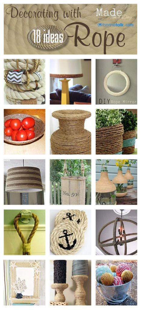 18 Cute and Crafty Ideas for Decorating With Rope!: